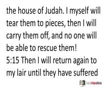 December 1 – Hosea 4 thru 6 from the Old Testament