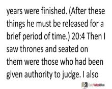 December 1 – Revelation 20 from the New Testament