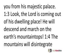 December 15 – Micah 1 thru 3 from the Old Testament