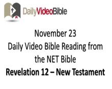 November 23 – Revelation 12 from the New Testament