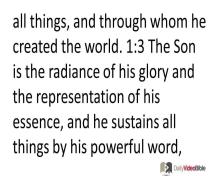 September 17 – Hebrews 1 from the New Testament