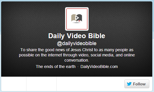 Daily Video Bible on Twitter